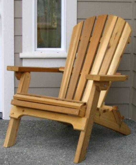 Amish Crafted Folding Adirondack Chair by CSCedarProductsInc