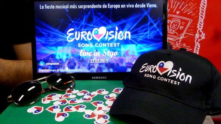Campaña Eurovision live in Stgo 2015. #ESCSTGO2015