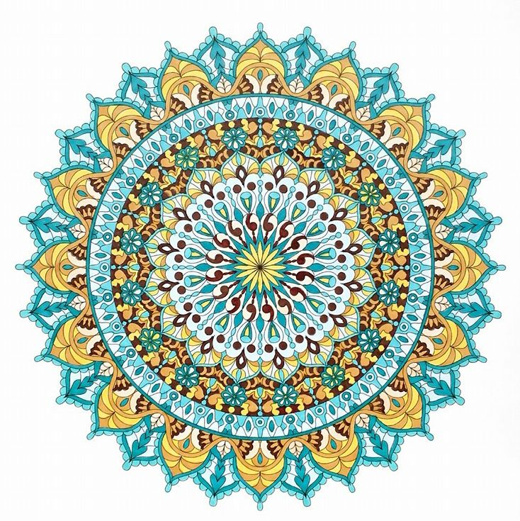 17 best images about finished mandalas in color on