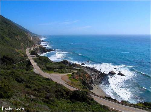 Hwy 1 - San Diego north.  One of the most scenic drives in the entire U.S.!