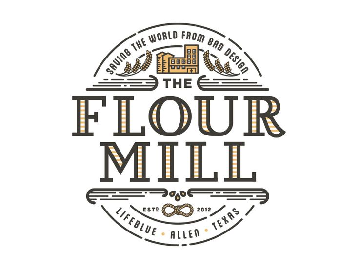 Flour Mill Logo by Justin Andrew Miller