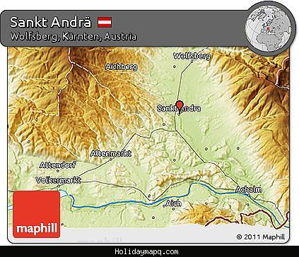 awesome Map of Wolfsberg (Karnten)