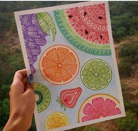 Resultado de imagen para mandalas de frutas dificiles