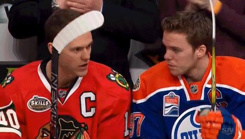 Jonathan Toews and Connor McDavid (1/28/17)