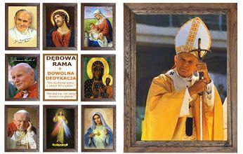 Obraz w ramie dębowej woskowanej, ręcznie składany może być wspaniałym podarunkiem ślubnym lub trafioną pamiątką ważnych rocznic. Zobacz na http://bit.ly/wramiedebowej #obraz #religijny #rama #dębowa
