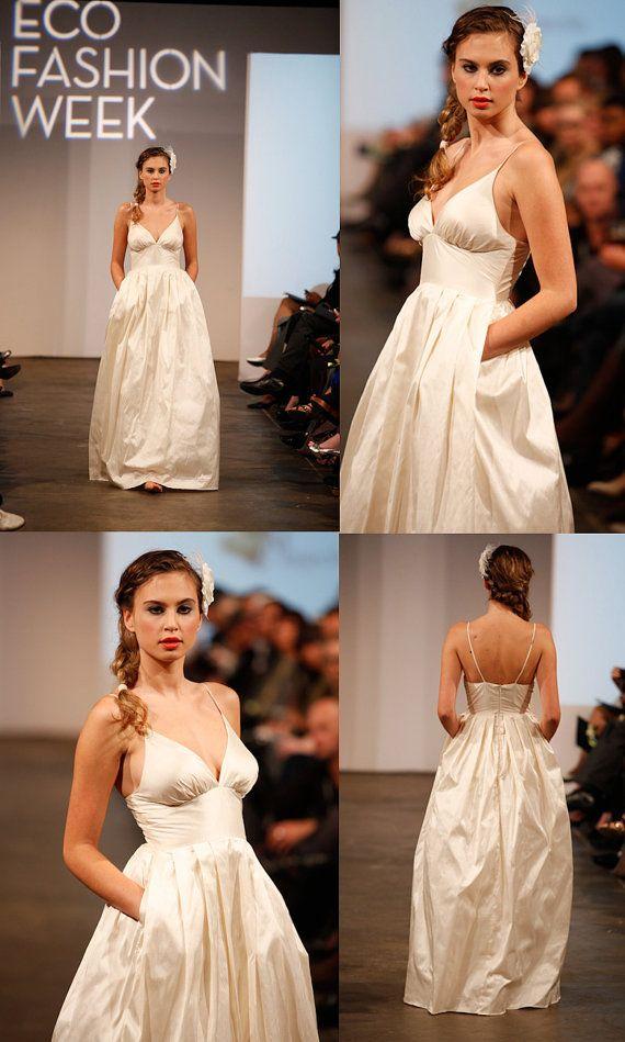 Simple Wedding Dress Beach Destination by PureMagnoliaCouture, $1200.00