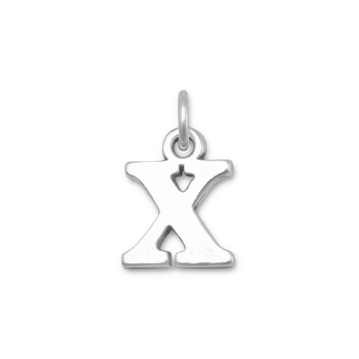 Greek Alphabet Letter Charm - Chi
