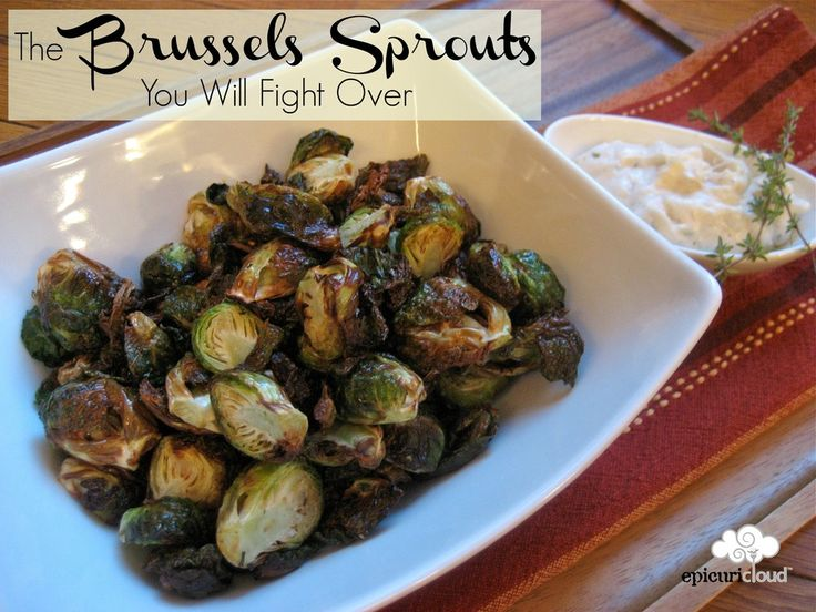 I used to hate brussels sprouts….not anymore! *The Brussels Sprouts You Will Fight Over* @epicuricloud, Christina Verrelli #roastedveggies #brusselssprouts #Airfryer