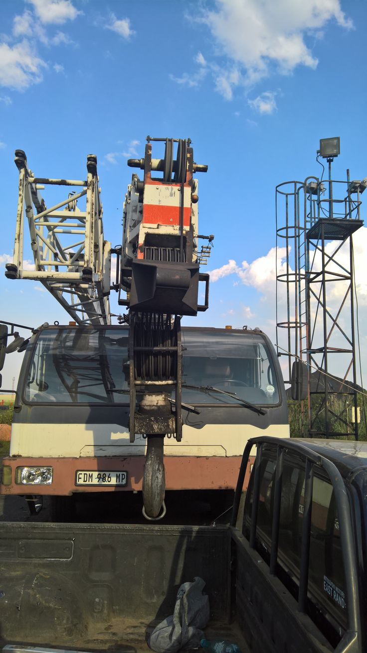 Bee removal in Johannesburg bees in a crane in Delmas coal mine http://www.bee-removal-johannesburg.co.za
