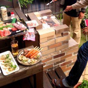 友達一家と庭でバーベキュー 自作のレンガのBBQコンロ、やっと使いました - 32件のもぐもぐ - BBQ by Mika
