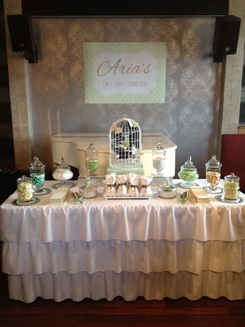 First Holy Communion Party By Leanne S Sweet Themed Candy