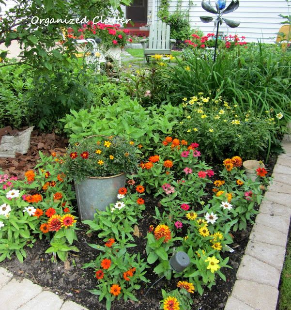 Exceptional Like The Pail Embedded In The Flower Garden. Organized Clutter: Yard Of  Flowers: Garden Tour 2013
