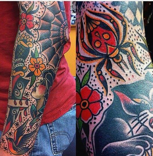 old school sleeve tattoo ideas pinterest school. Black Bedroom Furniture Sets. Home Design Ideas
