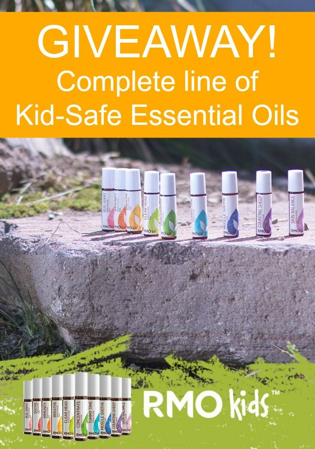Enter to win the entire set of essential oils for kids from Rocky Mountain Oils! $145+ value.