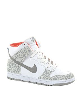 Nike Dunk Grey Leopard High Top Trainers. I need these for hip hop.. in love with!