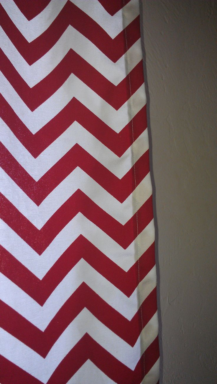 Black and white chevron curtain - Red Chevron Curtain Panels Or Valance