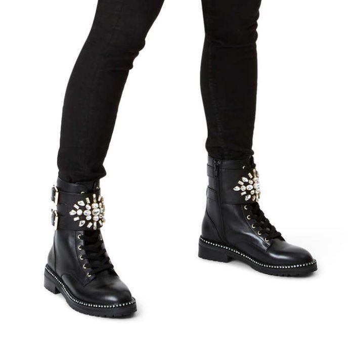 black leather ankle boots kurt geiger