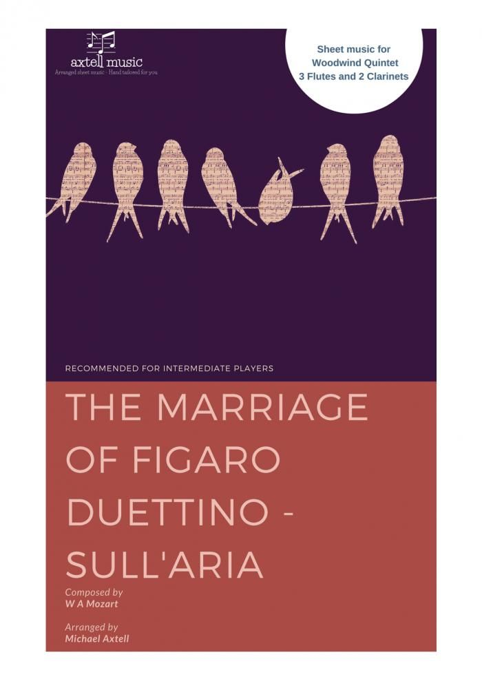 The Marriage Of Figaro Duettino - Sull aria - Wind quintet by Wolfgang Amadeus Mozart  -  Score Exchange Quick & easy way to buy sheet music of new arrangements and compositions Find and print new music for your ensemble. #inspiredtouplift #scoreexchange #mozart #figaro #sheetmusic #flute #clarinet