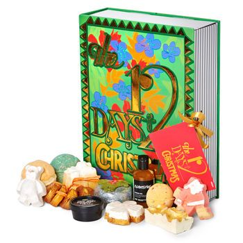 12 Days of Christmas Gift: Lush's take on an advent calendar! Between these pages you'll find 12 limited edition inventions and year-round favorites that are sure to get anyone in the Christmas spirit.