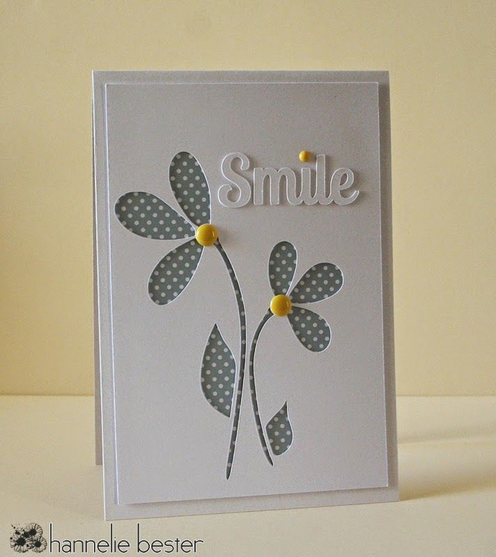 Flower Card Making Ideas Part - 17: Hand Crafted Card From The The Card Concept Color Challenge White, Yellow .  Luv The Graphic Styling . Die Cuts: Smile And Simple Flowers . Flowers With  ...