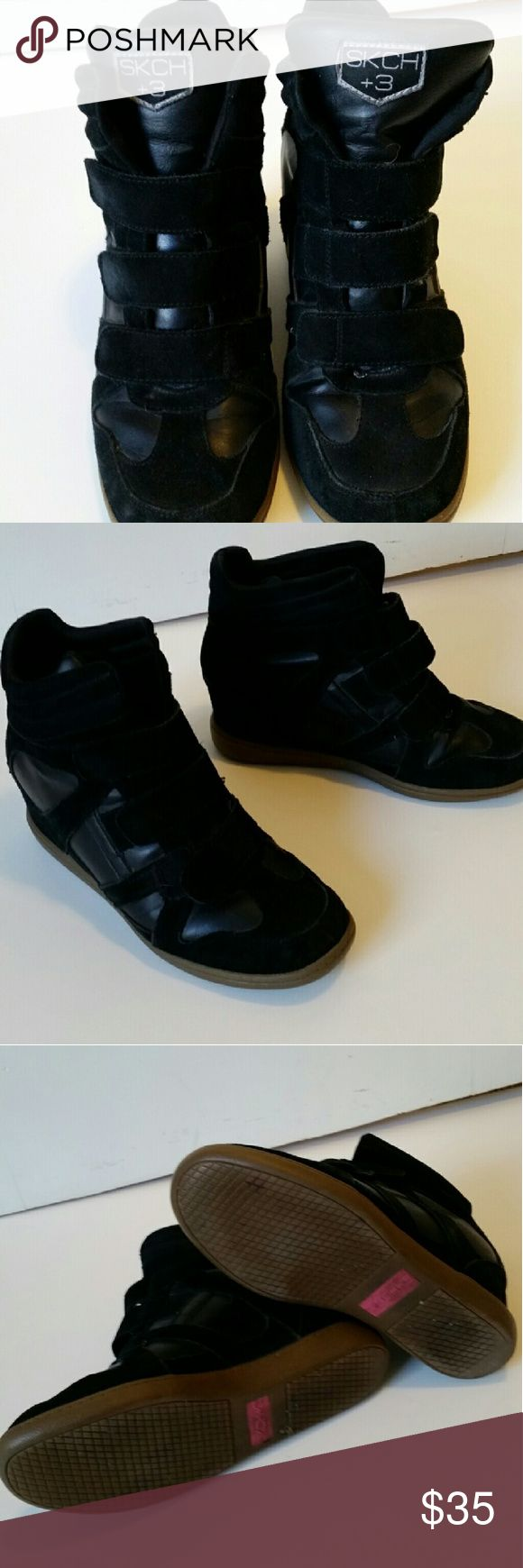Skechers S3 Sneaker Wedges Excellent used condition as seen in photos. Skechers Shoes Wedges
