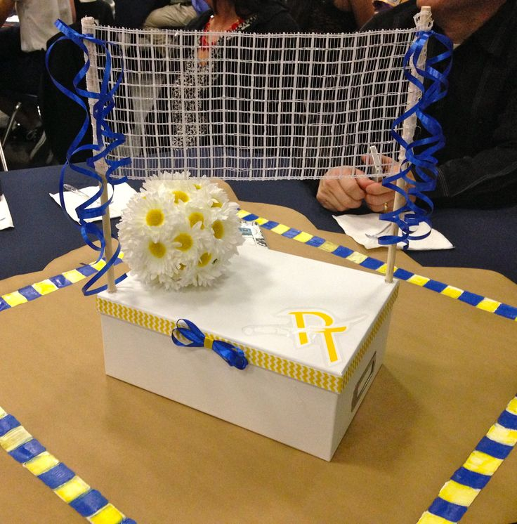 Volleyball table decorations | Volleyball | Pinterest