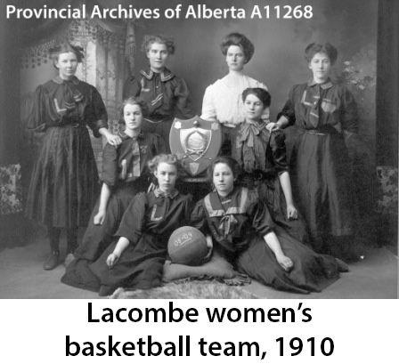 Lacombe Women's Basketball Team, Alberta 1910
