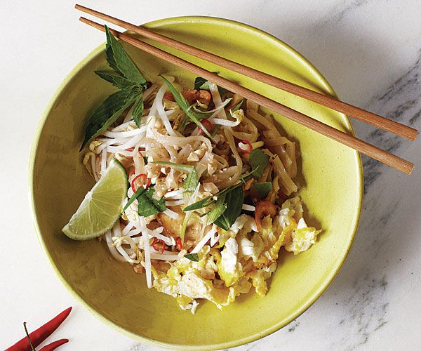 Authentic Pad Thai recipe from FineCooking.com.  If you've never made this before, watch the video from Conrinne Trang. awesome.