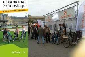 16. + 17.05.2015 Stuttgarter Fahrrad Aktionstage und RadSTERNFAHRT BW   Besuchen Sie uns auf unserem Stand   Stromrad Probefahrten und Beratung rund um das Thema elektrische Mobilität auf zwei Rädern   Pedelecs, e-Bikes, Elektrofahrräder.