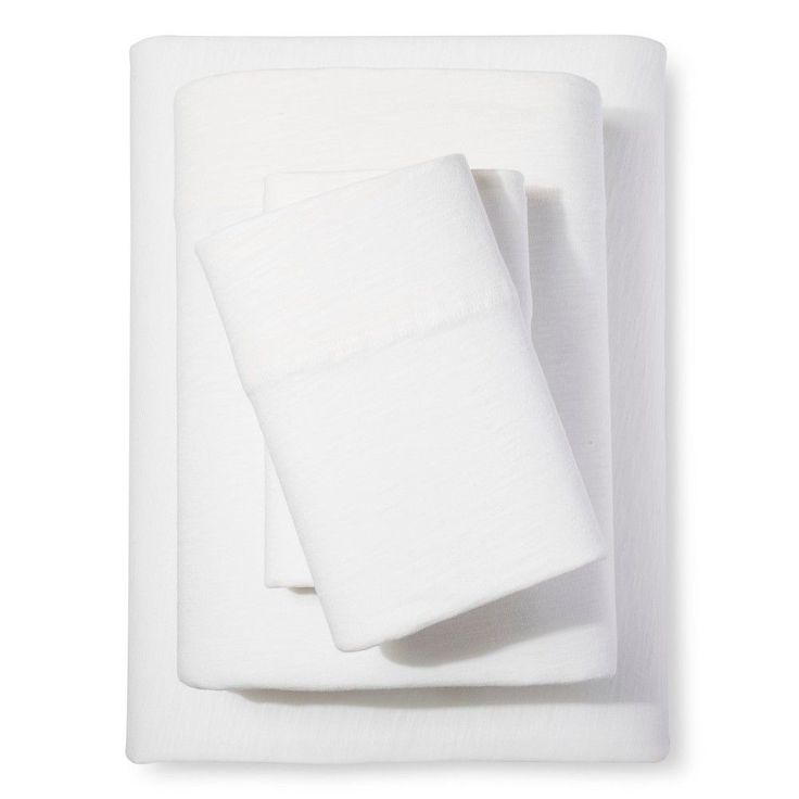 Organic Jersey Sheet Set Natural White (Twin XL) - Threshold, Winter White