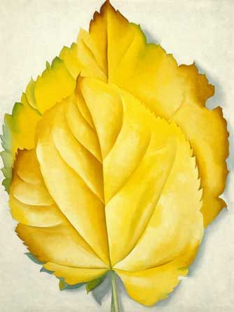 Georgia O'Keeffe (American,1887–1986). 2 Yellow Leaves (Yellow Leaves), 1928. Oil on canvas, 40 x 30 1/8 in. (101.6 x 76.5 cm). Brooklyn Museum, Bequest of Georgia O'Keeffe, 87.136.6
