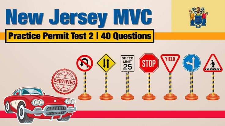 Driving licence test: New Jersey MVC Practice Permit Test 2