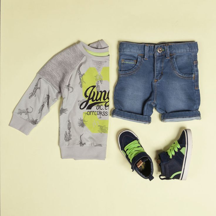 Outfit inspired by the jungle adventures for boy #jungle #fashionforboy #selva #jean @OFFCORSS
