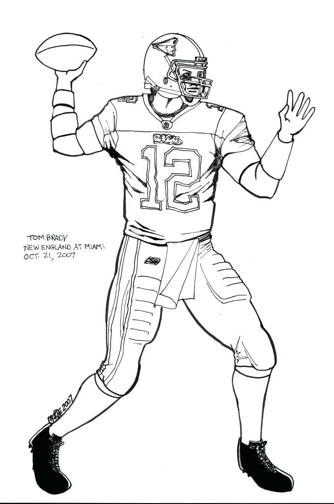 Tom Brady Coloring Pages Tom Coloring Pages Coloring Page For Kids