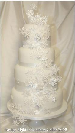 Snowflake Winter Wedding Cake.GOTS TA HAVE :)