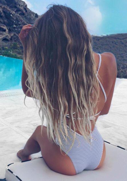 Beautiful Long Beachy Sun Bleached Hair Bohemian Hair