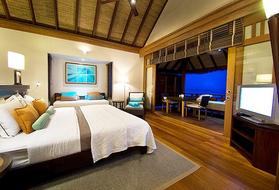 Our lovely bedroom (at Lux Maldives)