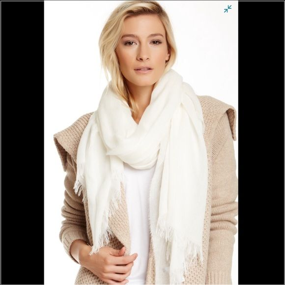 """VINCE. Fringed scarf etails: - Rectangle construction - Fringe details - 39"""" W x 79"""" L - Made in Italy Vince Accessories Scarves & Wraps"""