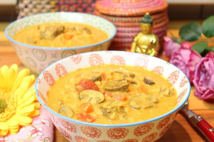 Low Carb Rezepte von Happy Carb: Indische Gulaschsuppe.