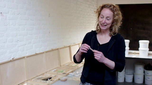 Clay service by Lonny van Ryswyck and Nadine Sterk (Atelier NL) for Royal Tichelaar Makkum. The project started by digging up, shaping and baking clay from different locations through the Netherlands http://www.wannekes.com/en/68-clay-service-atelier-nl-thomas-eyck-tichelaar-makkum/-/.