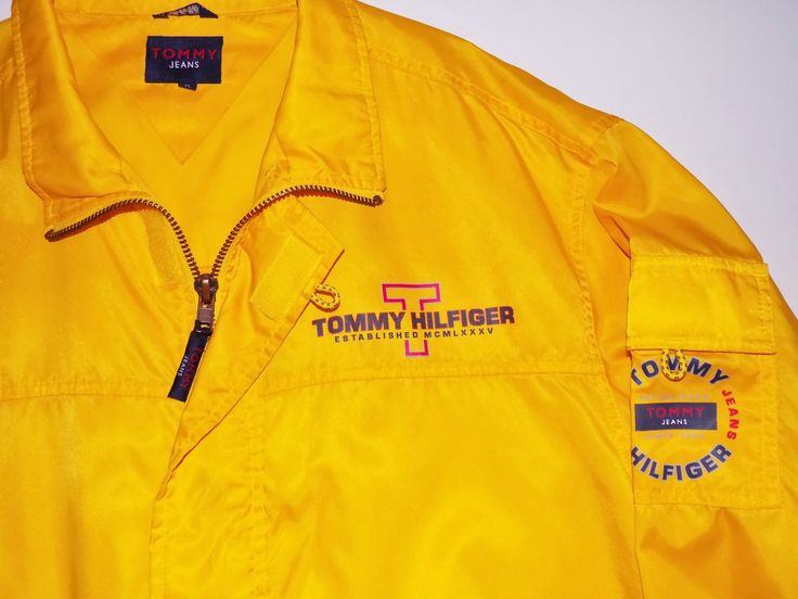 90s TOMMY HILFIGER packable rain jacket MENS 2XL by BLOCKPARTYVINTAGE on Etsy