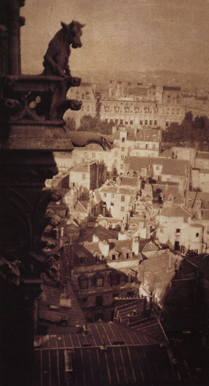 Alvin Langdon Coburn Paris Rooftops from Notre Dame Paris, circa 1904 Gum platinum print From Alvin Langdon Coburn: Photographs 1900-1924