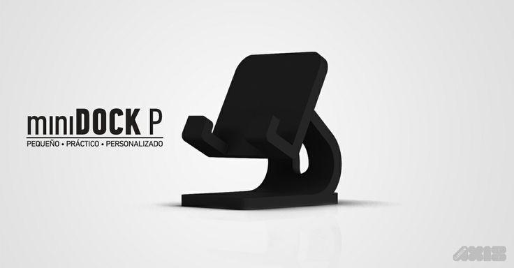 miniDOCK P es compatible con los smartphones disponibles en el mercado ya que considera medidas estandarizadas #Impresion3D