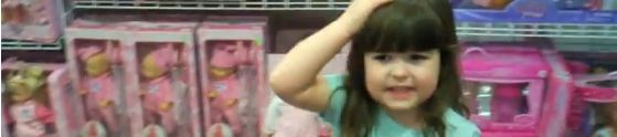 video of little girl analyzing how toys are gendered