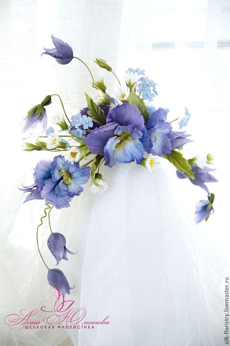 """Купить Цветочная композиция """"Фиона"""". - ободок для волос, ободок с цветами, полевые цветы, украшение для волос"""