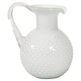 Simmons Pitcher $47 on Joss & Main. I love the old hobnail glass.