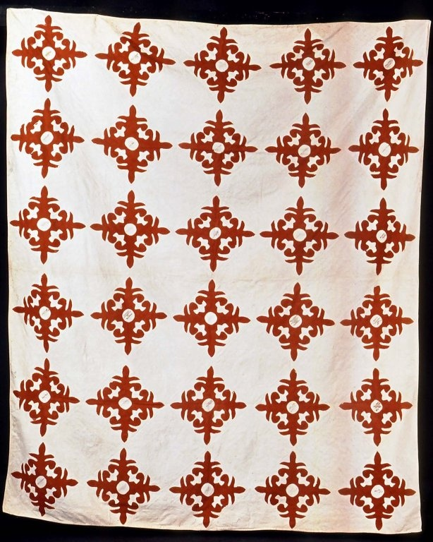 American. Album Quilt, 1853-1865. Cotton Brooklyn Museum, Gift of The Jason and Peggy Westerfield Collection.