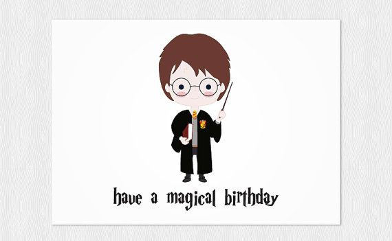 Buon compleanno Harry Potter Stampabile Have a magical birthday – Birthday Cards Pdf