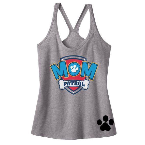Custom PAW PATROL MOM birthday Tank Mom Patrol Shirt Paw