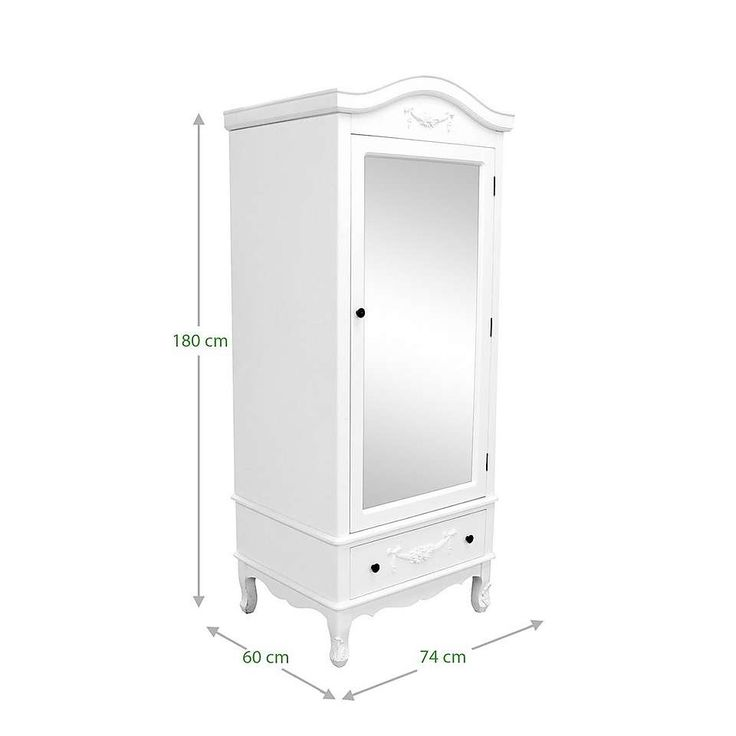Toulouse White Single Wardrobe | Dunelm
